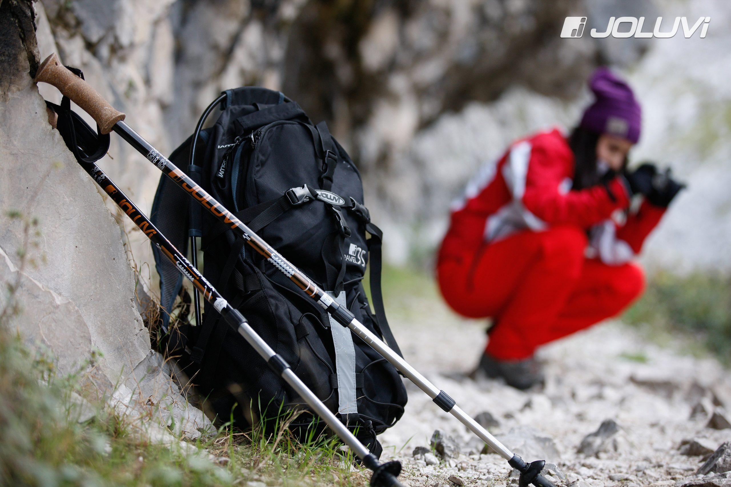 Bastones Joluvi para trekking y marcha nórdica