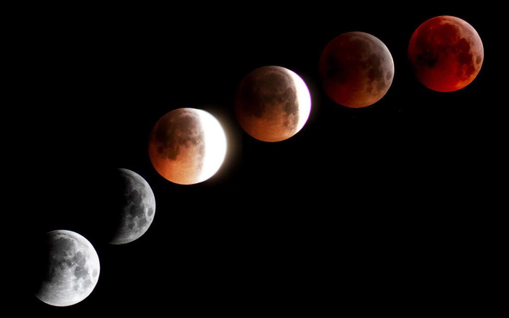 Luna de sangre. Telescopio Astronómico Levenhuk